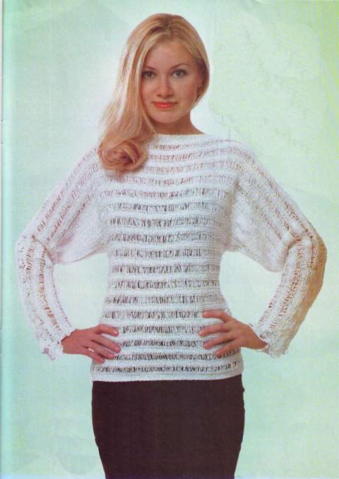 Женский джемпер. Вязание