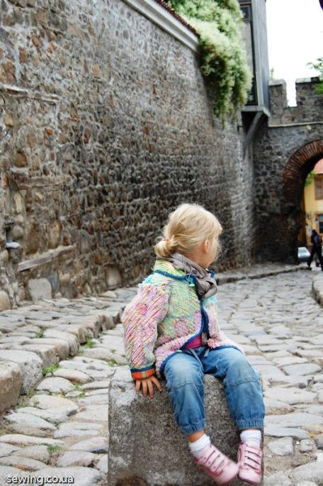 Очаровательная детская курточка в технике синель