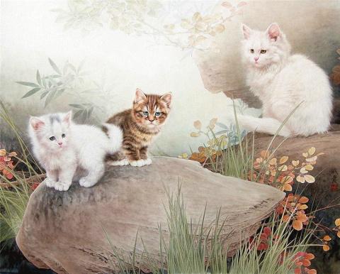 Кошки китайского художника Xing Chengai