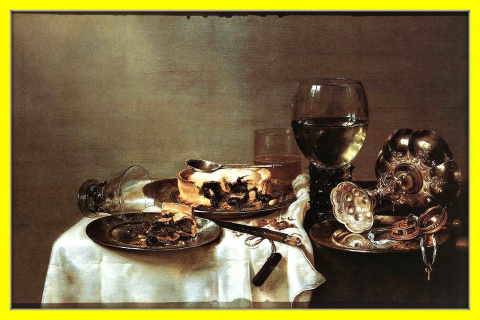 Завтрак с ежевичным пирогом.1631г.