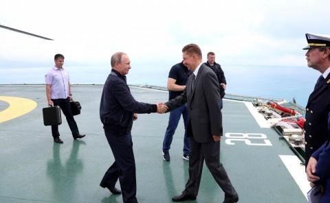 Владимир Путин дал старт стыковке мелководной и глубоководной частей «Турецкого потока»