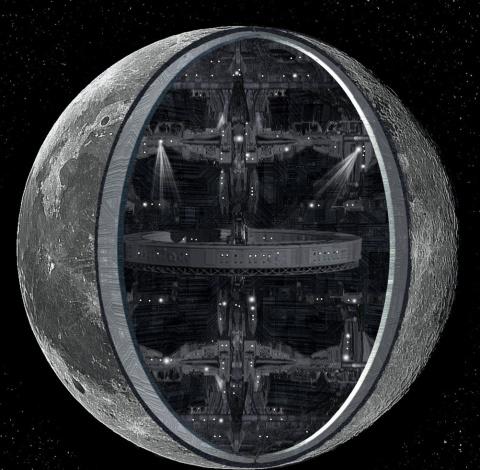 Полая Луна: найден вход в самую большую базу инопланетян