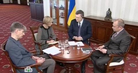 Президент Украины Виктор Янукович в интервью НТВ. 2 апреля 2014.