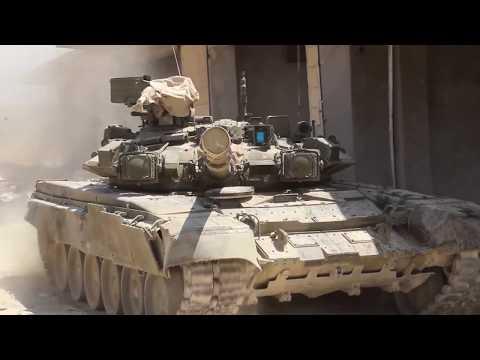 Новые танки Т-90 прибыли в Алеппо для участия в боях с «Аль-Каидой»