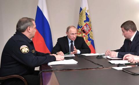 Совещание о мерах по ликвидации последствий пожаров в Ростове-на-Дону и Волгоградской области