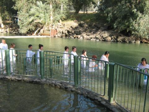 Партнеры компании Валери Элит в Израиле. Омовение в водах реки Иордан