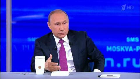 Песков рассказал, что президент РФ оставил за кадром «прямой линии»