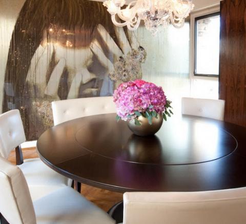 Красивые круглые столы в интерьерах!