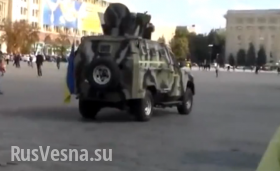 «Чертова фашистня!» — харьковчане встречают нацгвардию (видео)