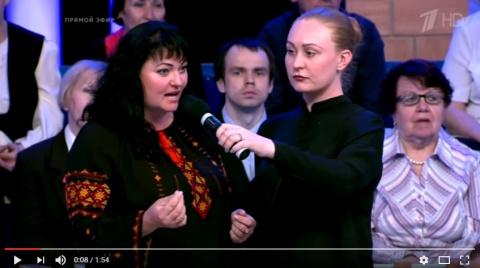 Украинка в вышиванке вызвала…
