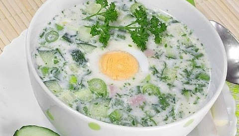 Холодный суп из щавеля