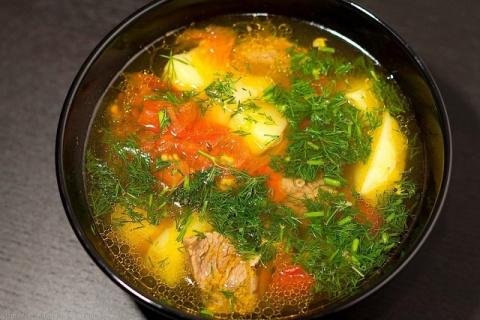СУП БОЗБАШ (узбекская кухня)
