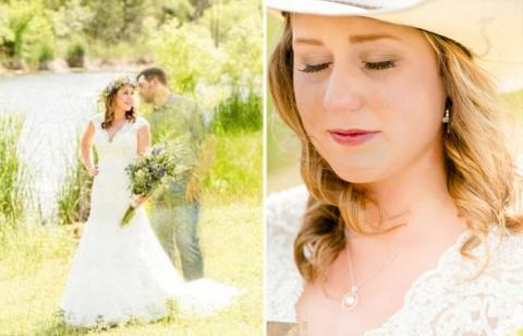 Невеста сделала свадебные фо…