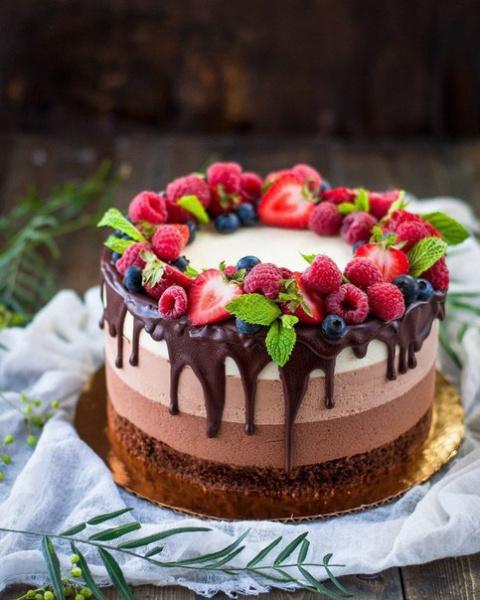 Муссовый торт «Три шоколада»
