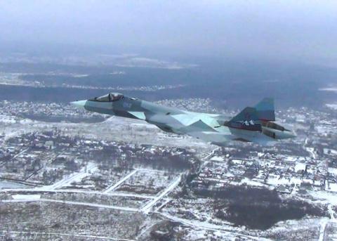 Испытания Су-57 с двигателем…