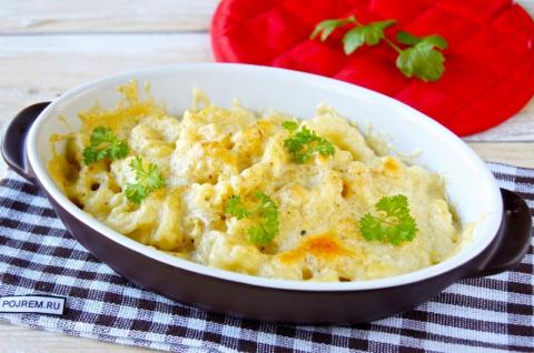 Рецепт: макароны с сыром в духовке