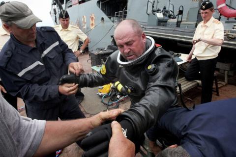 Водолазы ВМФ впервые нырнут …