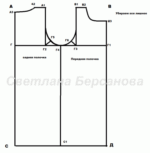 Как построить выкройку-основу для вязанной модели с втачным рукавом