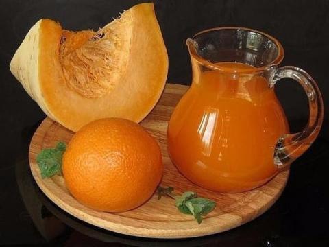Полезный и вкусный тыквенный сок с апельсином. Готовлю каждый год!
