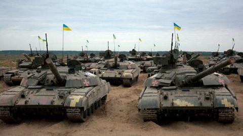 Колонны украинской военной т…