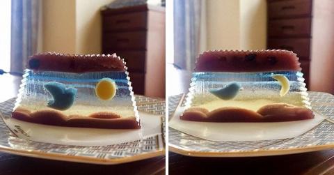 Десерт, напоминающий произве…