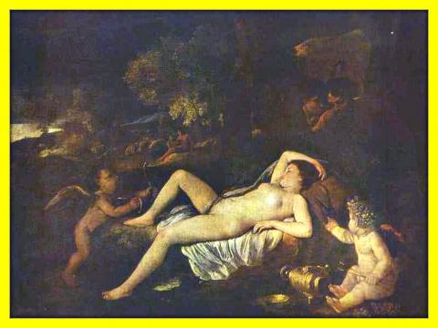 Спящая Венера и Амур.