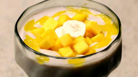 Бананово-манговый пудинг: ре…
