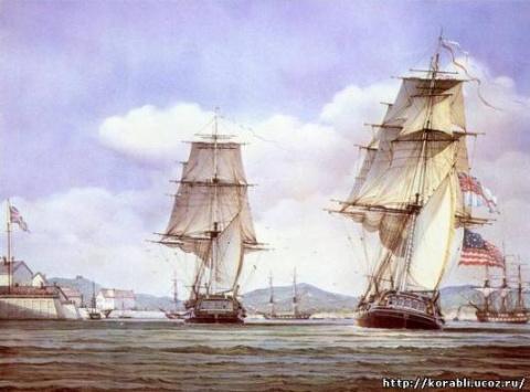 картина «Парусные корабли»