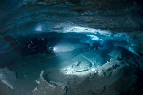 Подводная Ординская пещера