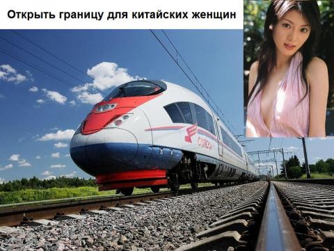 Высокоскоростная железная дорога из Москвы в Пекин обойдется в 7 трлн рублей + Открыть границу для китайских женщин