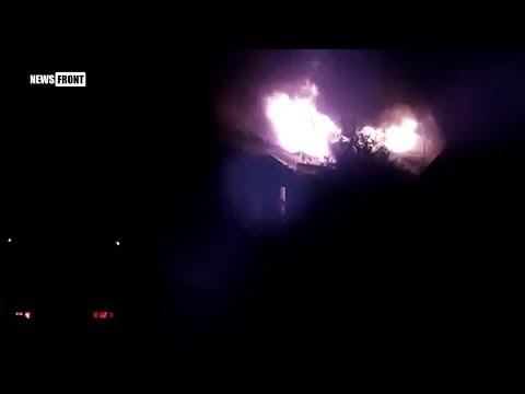 ВСУ нанесли удар по северу Донецка. Горит частный дом 17.07.2017
