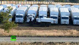 В  российском гуманитарном конвое на Украину  «секретная военная вода».