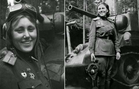Александра Самусенко - единственная женщина, командовавшая батальоном танков