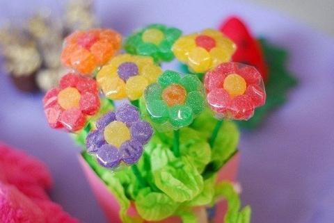 Букет из мармелада - вариант сладкого букета из конфет своими руками