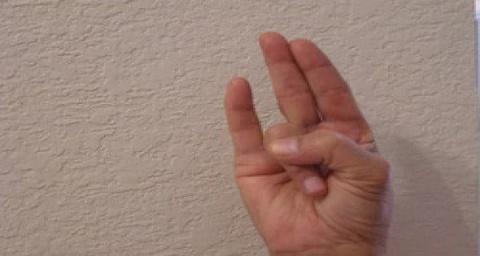 Подержите руку в таком полож…