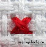 Вышиваем одиночные крестики