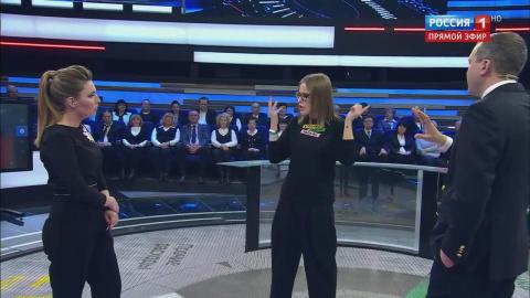 """Собчак на ток-шоу """"60 минут"""" 04.12.2017. Большое вяканье доводит до бяканья."""