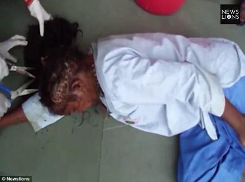 В Индии спасли женщину, чью …