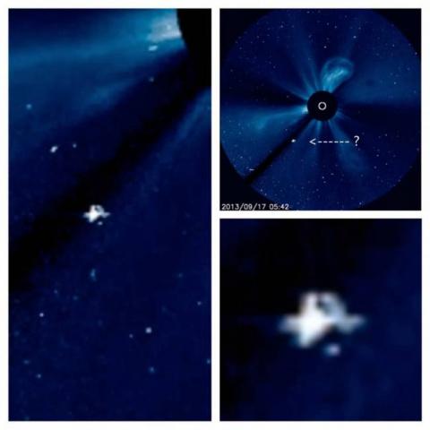 Космический корабль на фото Солнца от НАСА?
