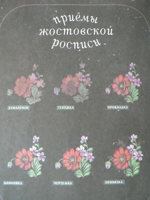 Жостово. Цветы на подносе.