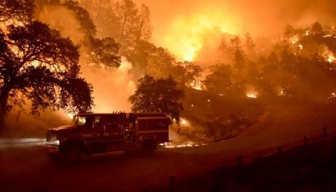 Лесные пожары вКалифорнии: …