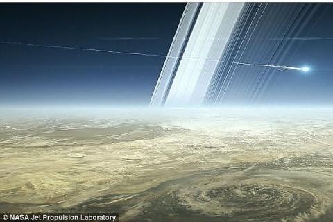 Станция NASA «Кассини» засняла таинственный объект перед саморазрушением
