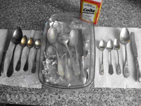 Как очистить серебро или мельхиор