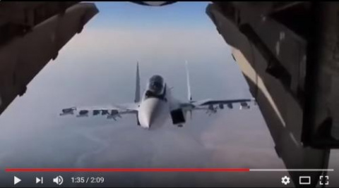 Су-30 сильно напугал американских морпехов. Это надо видеть