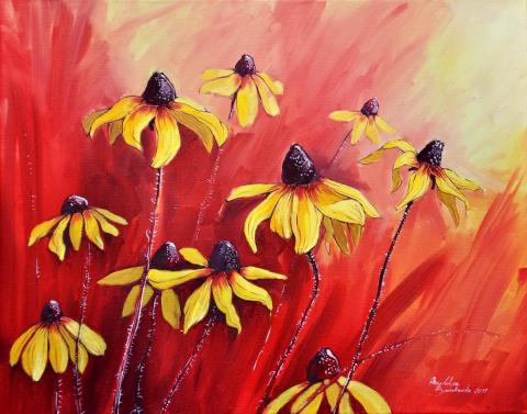 Цветочная акварельь. Польская художница Magdalena Bronakowska