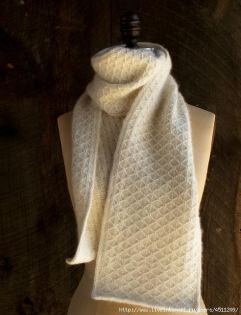2 красивых узора спицами для шарфа