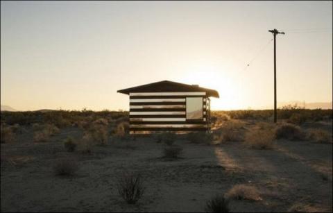 Дом-невидимка в пустыне Мохаве