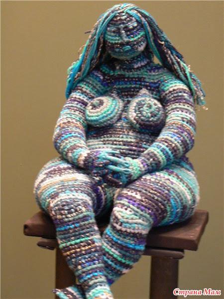Вязаная скульптура от Юлии Устиновой
