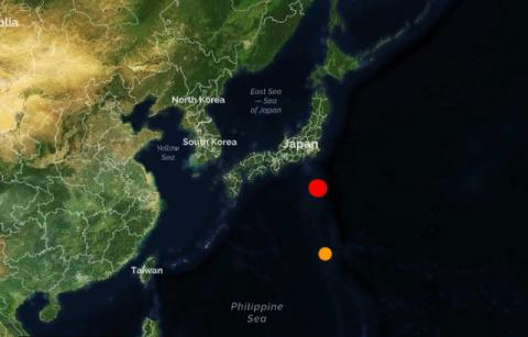 Япония. Землетрясение магнитудой 6