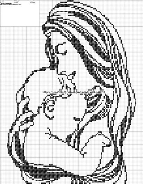 Маленькая черно белая схема вышивки крестом
